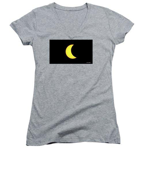 Partial Eclipse 3 Women's V-Neck T-Shirt