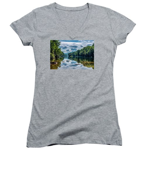Partially Cloudy Gauley River Women's V-Neck