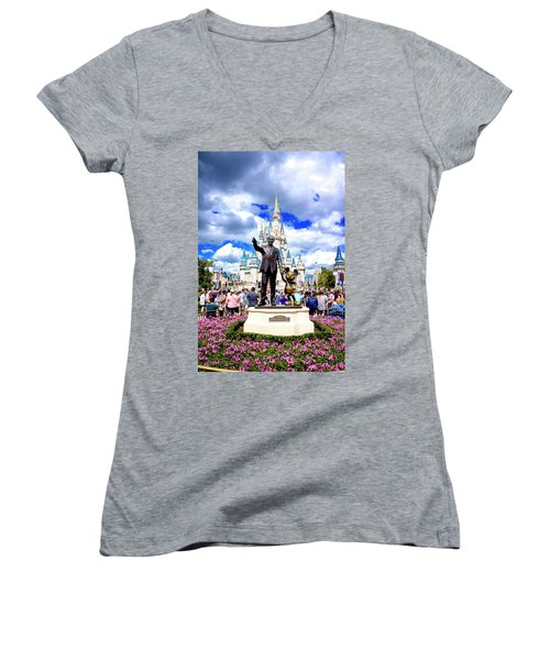 Women's V-Neck T-Shirt (Junior Cut) featuring the photograph Partners Two by Greg Fortier