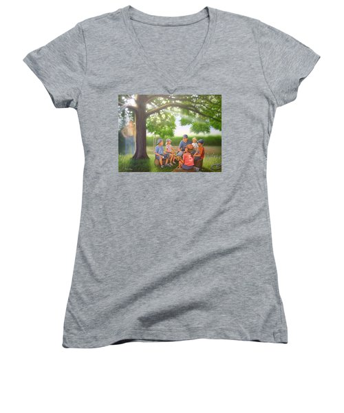 Pass It On - Baseball Women's V-Neck