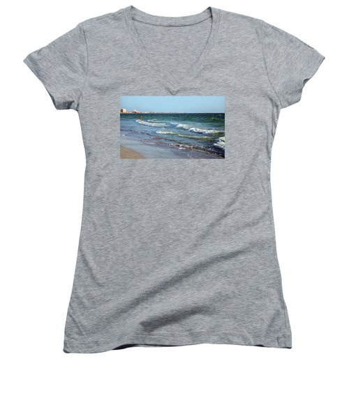 Passagrill Beach Women's V-Neck (Athletic Fit)