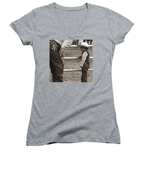 Passing On The Wisdom Women's V-Neck (Athletic Fit)