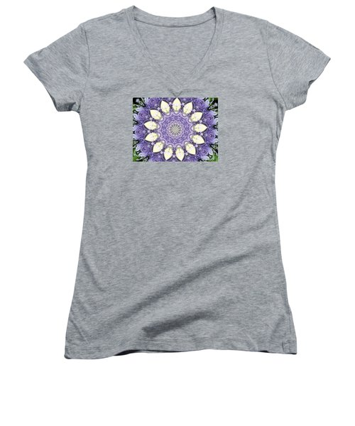Passion Flower Kaliedoscope Women's V-Neck (Athletic Fit)