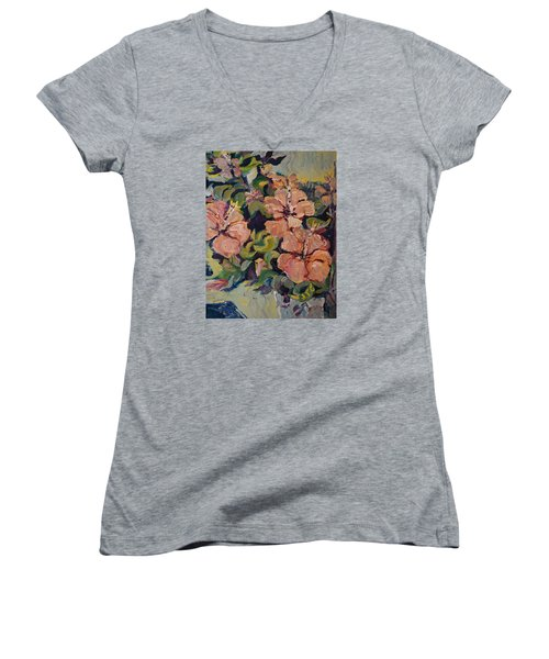 Passion In Dubrovnik Women's V-Neck T-Shirt (Junior Cut) by Julie Todd-Cundiff