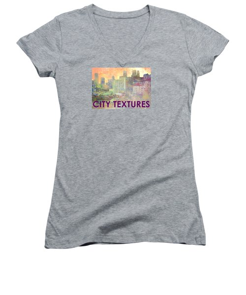 Pastel City Textures Women's V-Neck T-Shirt