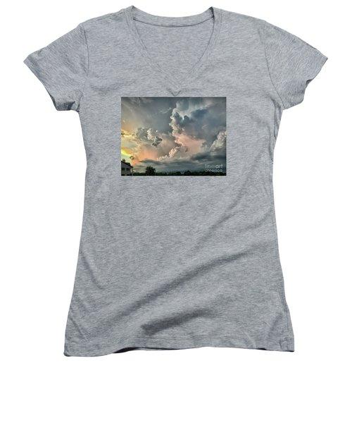 Pastel Clouds Women's V-Neck T-Shirt