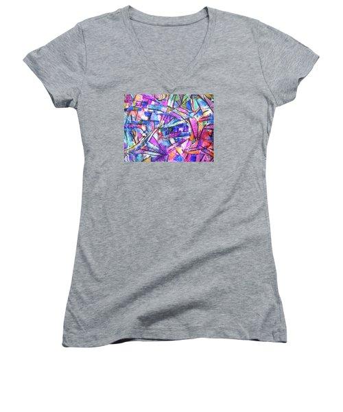 Pastel Kaleidoscope Women's V-Neck