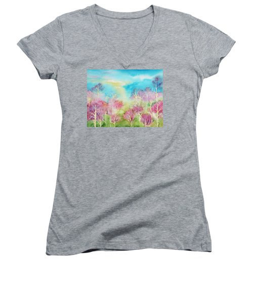 Pastel Spring Women's V-Neck T-Shirt