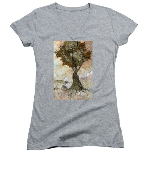 Pastoria - Year Of The Dragon Women's V-Neck T-Shirt (Junior Cut) by Ed Hall