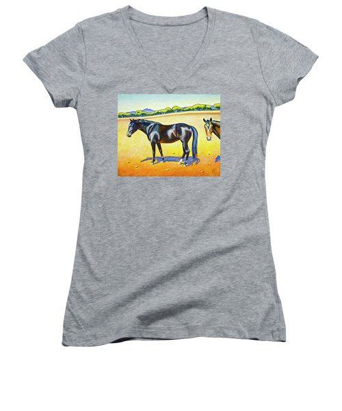 Pasture Pals 2 Women's V-Neck T-Shirt