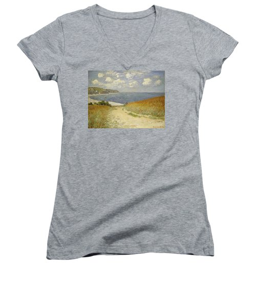 Path In The Wheat At Pourville Women's V-Neck