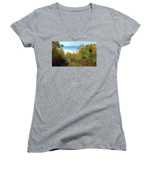 Path In The Woods 7 Women's V-Neck
