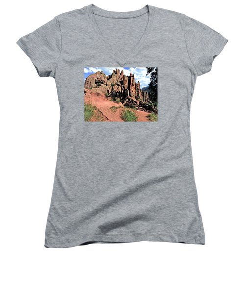Path To Red Rocks Women's V-Neck T-Shirt