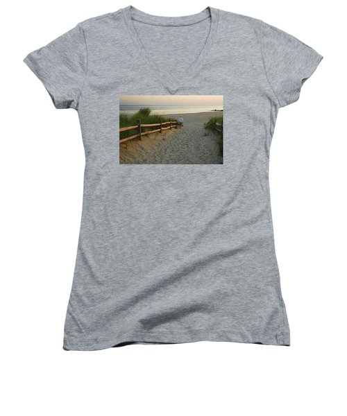 Path To The Sea Women's V-Neck (Athletic Fit)