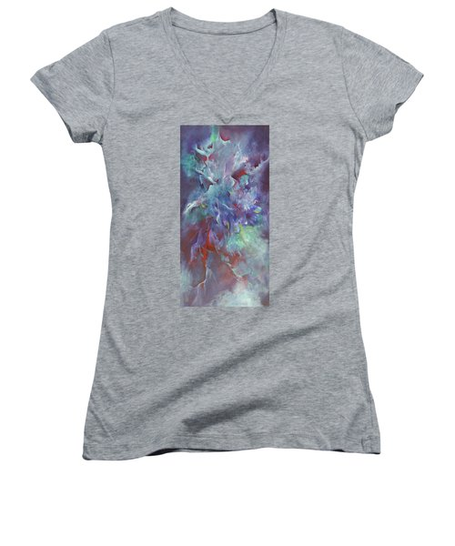 Pathway Of A Prayer Women's V-Neck T-Shirt (Junior Cut) by Karen Kennedy Chatham