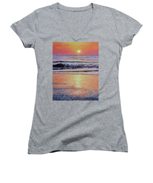 Pathway To Dawn - Outer Banks Sunrise Women's V-Neck T-Shirt