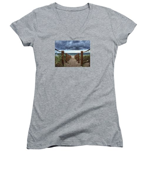 Pathway To The Clouds Women's V-Neck T-Shirt