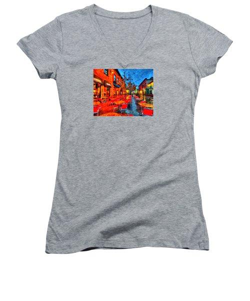 Patio Women's V-Neck T-Shirt (Junior Cut) by Andre Faubert