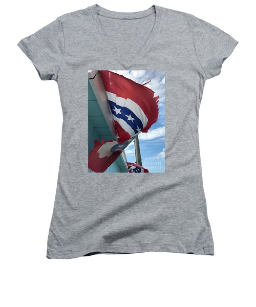 Patriotic Wave Women's V-Neck