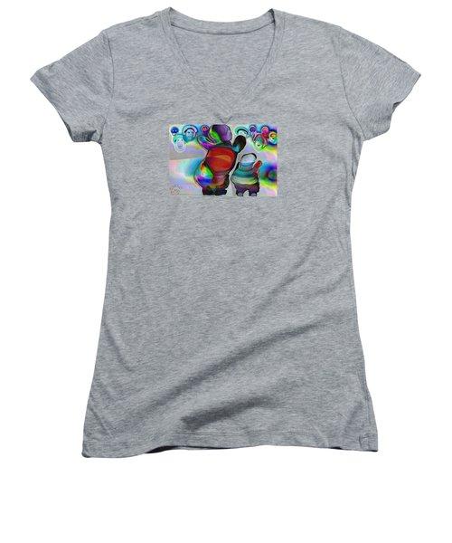 Pattern 270 _ Welcome Women's V-Neck T-Shirt
