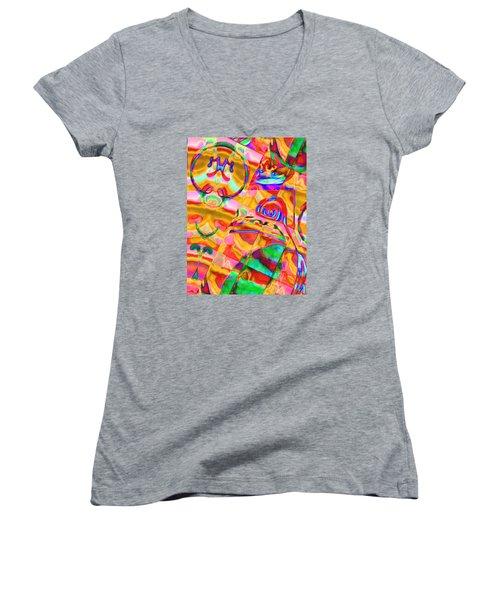 Pattern 316 _ Free Form Women's V-Neck T-Shirt