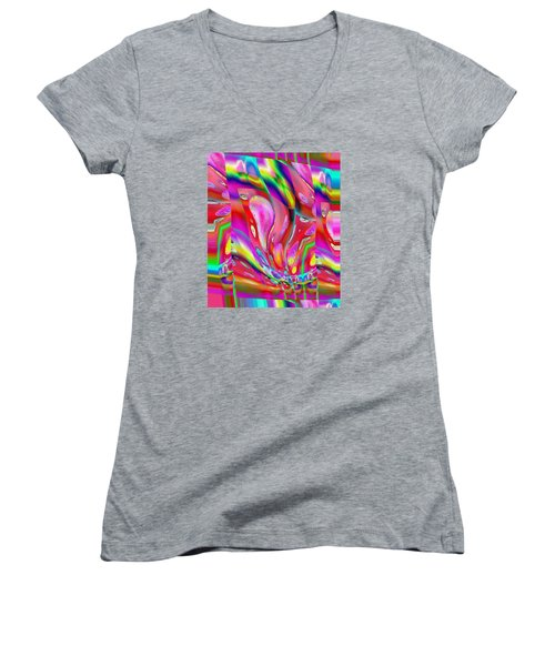 Pattern 318 _ Push Women's V-Neck T-Shirt