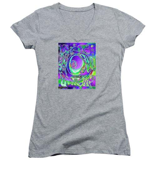Pattern 317 _ Unique Women's V-Neck T-Shirt