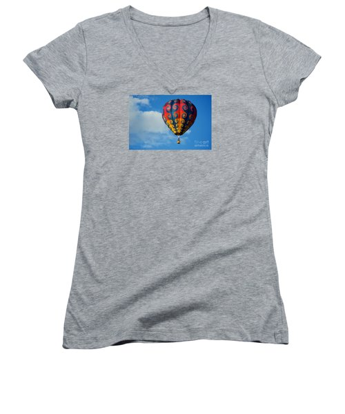 Patterns In The Sky Women's V-Neck T-Shirt
