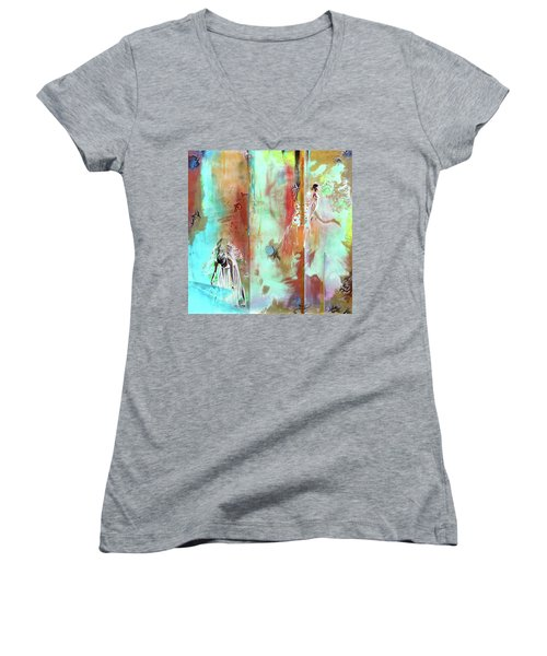 Pause In The Reconstruction Of Doubt  Women's V-Neck T-Shirt
