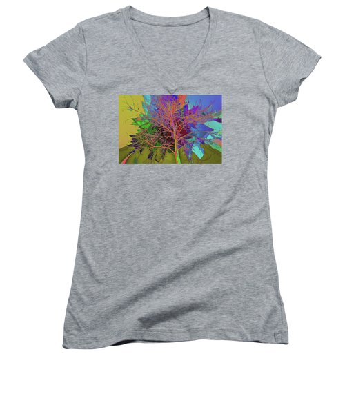 P C C Elm In The Wait Of Bloom Women's V-Neck (Athletic Fit)