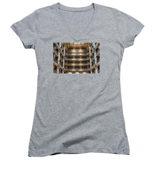 Peabody Library Women's V-Neck T-Shirt