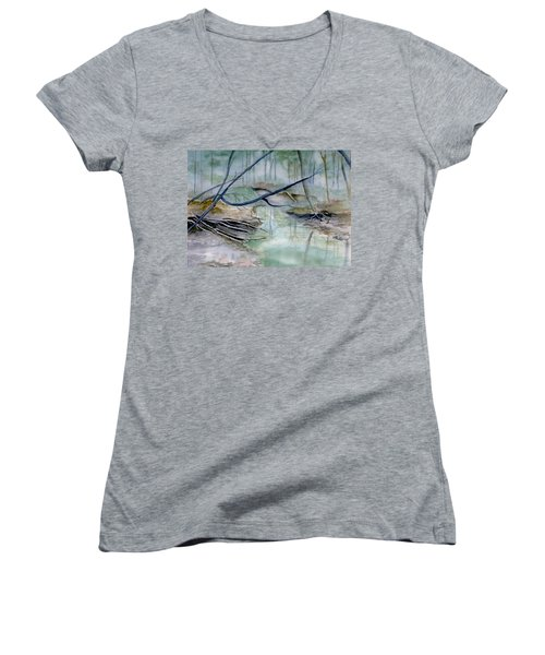 Peace And Tranquility Women's V-Neck (Athletic Fit)