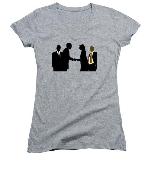 Peace Women's V-Neck T-Shirt (Junior Cut) by EricaMaxine  Price