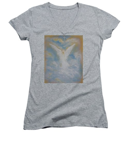 Peace From An Angel  Women's V-Neck T-Shirt