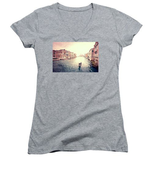 Peace In Venice Women's V-Neck