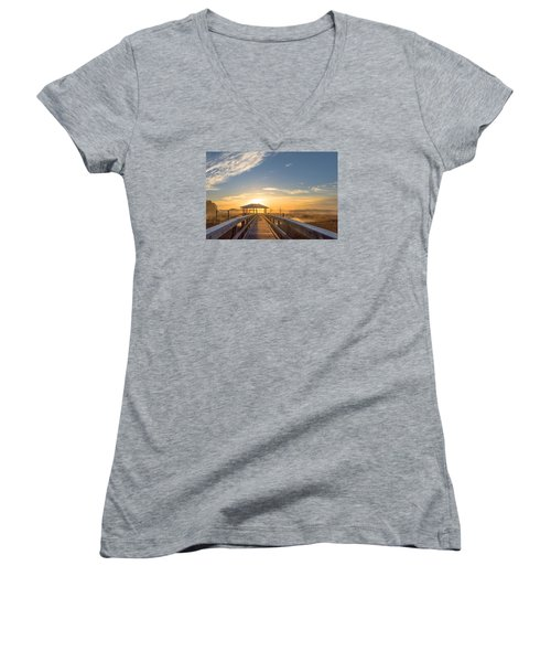 Women's V-Neck T-Shirt (Junior Cut) featuring the photograph Peace by Margaret Palmer