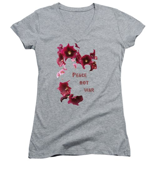 Peace Not War Women's V-Neck T-Shirt