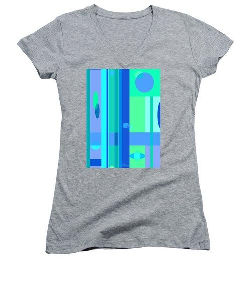Peaceful Easy Feeling Women's V-Neck T-Shirt (Junior Cut) by Brooks Garten Hauschild