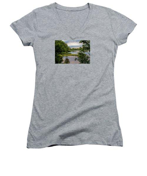 Peaceful Evening Women's V-Neck T-Shirt