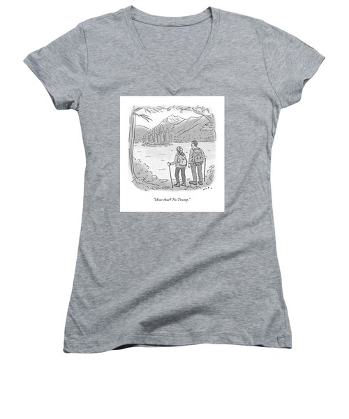 Peaceful Hikers Women's V-Neck