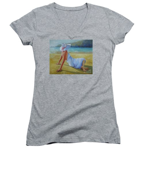 Peaceful Moments Women's V-Neck (Athletic Fit)