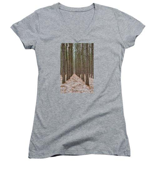 Peaceful Pines Women's V-Neck