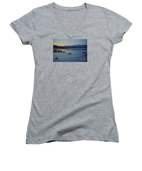 Peaceful Waters Women's V-Neck T-Shirt