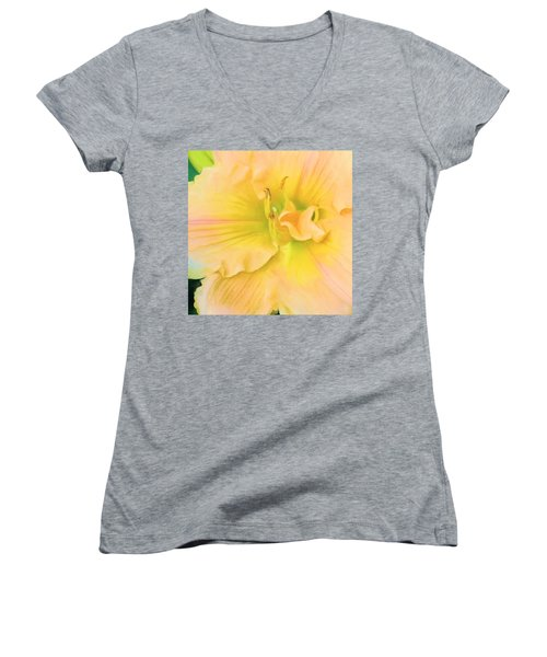 Peach Lily Women's V-Neck