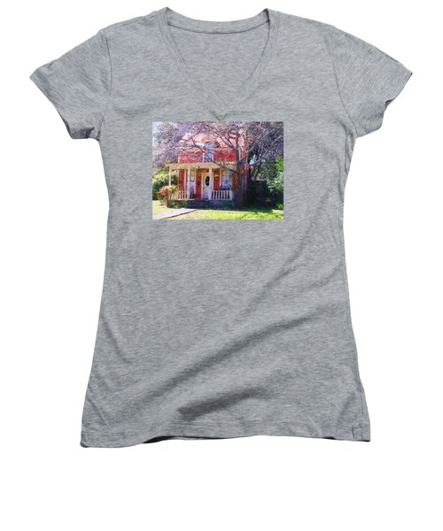 Peach Tree Bed And Breakfast Women's V-Neck (Athletic Fit)