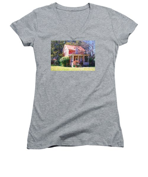 Peach Tree Bed And Breakfast2 Women's V-Neck (Athletic Fit)