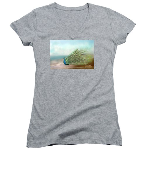 Peacock Beauty Women's V-Neck (Athletic Fit)