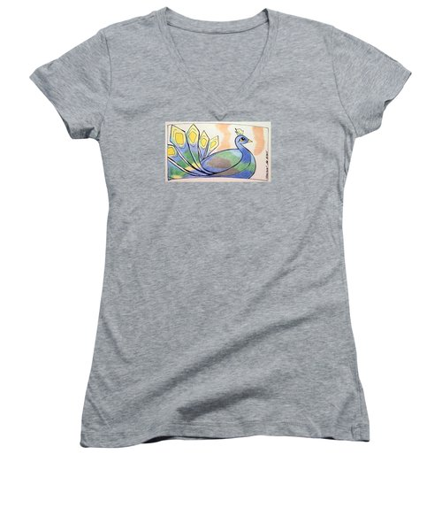 Peacock Women's V-Neck (Athletic Fit)
