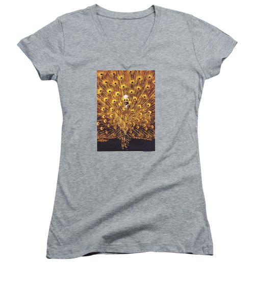 Peacock Man Women's V-Neck (Athletic Fit)