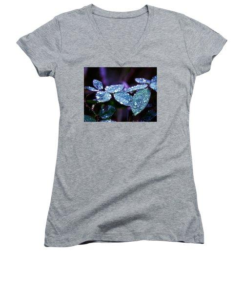 Pearls Of Nature Women's V-Neck T-Shirt (Junior Cut) by Bernd Hau